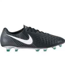Nike Magista Opus II FG Soccer Cleats (Black/White/Cool Grey/Stadium Green)