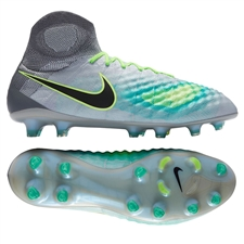 Nike Magista Obra II FG Soccer Cleats (Pure Platinum/Black/Ghost Green)