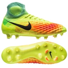 Nike Magista Obra II FG Soccer Cleats (Volt/Total Orange/Pink Blast)