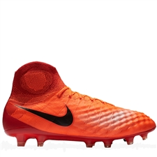 Nike Magista Obra II FG Soccer Cleats (Total Crimson/Black/University Red)