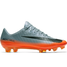 Nike Mercurial Vapor XI CR7 FG Soccer Cleats (Cool Grey/Metallic Hematite/Wolf Grey)