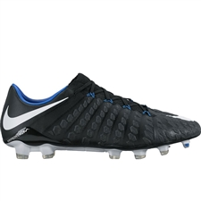 Nike Hypervenom Phantom III FG Soccer Cleats (Black/White/Game Royal)