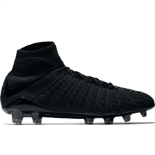 Nike Hypervenom Phantom III DF FG Soccer Cleats (Black)