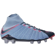 Nike Hypervenom Phantom III DF FG Soccer Cleats (Light Armory Blue/Armory Navy/Armory Blue)