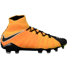 Nike Hypervenom Phantom III DF FG Soccer Cleats (Laser Orange/White/Black/Volt)