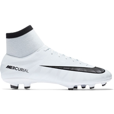 Nike Mercurial Victory VI CR7 DF FG Soccer Cleats (Blue Tint/Black/White)