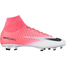 Nike Mercurial Victory VI DF FG Soccer Cleats (Racer Pink/Black/White)