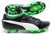 Puma King Finale SL I FG Soccer Cleats (Black/White/Green)