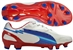 Puma evoSPEED 1 K FG Soccer Cleats (White/Limoges/Ribbon Red)