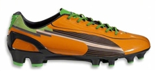 Puma evoSPEED 5 FG Soccer Cleats (Flame Orange/Team Charcoal/Classic Green)