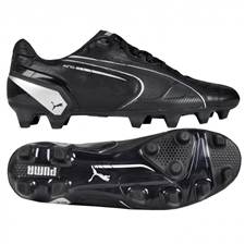 Puma King FG Soccer Cleats (Black/Puma Silver)