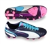 Puma King FG Soccer Cleats (Peacoat/White/Blue/Pink)