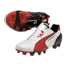 Puma Spirit FG Soccer Cleats (White/High Risk Red/Black)
