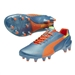 Puma evoSPEED 1.2 FG Soccer Cleats (Sharks Blue/Fluro Peach)