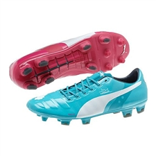 Puma evoPOWER 1 Tricks FG Soccer Cleats (Beetroot Purple/Bluebird/White)