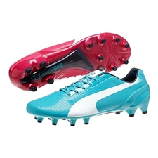 Puma evoSPEED 1.2 Tricks FG Soccer Cleats (Beetroot Purple/Bluebird/White)