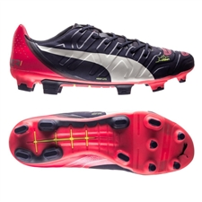 Puma evoPOWER 1.2 FG Soccer Cleats (Peacoat/White/Bright Plasma)