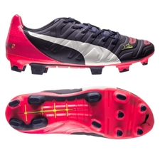 Puma evoPOWER 2.2 FG Soccer Cleats (Peacoat/White/Bright Plasma)