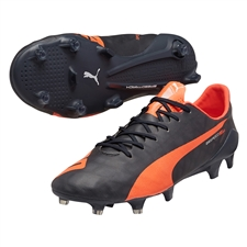 Puma evoSPEED SL FG Soccer Cleats (Total Eclipse/Lava Blast/White)