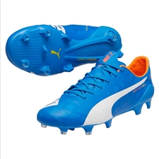 Puma evoSPEED SL FG Soccer Cleats (Electric Blue Lemonade)