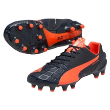 Puma evoSPEED 1.4 FG Soccer Cleats (Total Eclipse/Lava Blast/White)