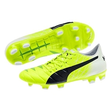 Puma evoACCURACY 2 FG Soccer Cleats (Fluro Yellow/Peacoat/White)