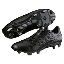 Puma evoPOWER 1.3 K (Leather) FG Soccer Cleats (Black)