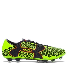 Under Armour ClutchFit Force 2 FG Soccer Cleats (High Vis Yellow/Rocket Red/Black)
