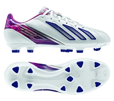 Adidas Womens F30 (Leather) TRX FG Soccer Cleats (Running White/Blast Pink)