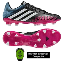 Adidas Women's Predator Absolado LZ TRX FG Soccer Cleats (Black/Running White/Blast Pink)