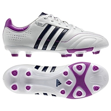 Adidas Women's 11Nova TRX FG Soccer Cleats (White/Night Sky/Ultra Purple)