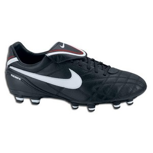 Nike Women's Tiempo Mystic FG Soccer Cleats III (Black/White/Red)
