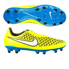 Nike Women's Magista Onda FG Soccer Cleats (Volt/Blue Lagoon/White)