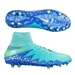 Nike Women's Hypervenom Phantom II FG Soccer Cleats (Hyper Turq/Racer Blue/Chalk Blue/Voltage Green)