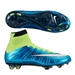 Nike Women's Mercurial SuperFly IV FG Soccer Cleats (Blue Lagoon/Volt/White)