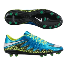 Nike Women's Hypervenom Phinish FG Soccer Cleats (Blue Lagoon/Volt/White)