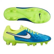 Nike Women's Tiempo Legend V FG Soccer Cleats (Blue Lagoon/Volt/White)
