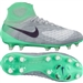 Nike Women's Magista Obra II FG Soccer Cleats (Wolf Grey/Purple Dynasty/Electro Green)