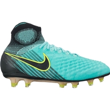 Nike Women's Magista Obra II FG Soccer Cleats (Light Aqua/Black/Igloo/Volt)