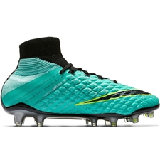 Nike Women's Hypervenom Phantom III DF FG Soccer Cleats (Light Aqua/White/Black/Volt)