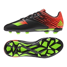 Adidas Messi 15.3 Youth FG/AG Soccer Cleats (Black/Solar Green/Solar Red)