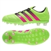 Adidas ACE 16.1 Leather Youth FG/AG Soccer Cleats (Solar Green/Shock Pink/Black) |  Adidas Soccer Cleats |FREE SHIPPING| Adidas AF5093 |  SOCCERCORNER.COM