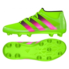 Adidas ACE 16.3 Primemesh Youth FG/AG Soccer Cleats (Solar Green/Shock Pink/Black) |  Adidas Soccer Cleats |FREE SHIPPING| Adidas AQ2565 |  SOCCERCORNER.COM
