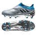 Adidas Messi 16+ PureAgility FG Soccer Cleats (Silver Metallic/Black/Shock Blue)