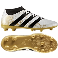 Adidas ACE 16.3 Primemesh Youth FG/AG Soccer Cleats (White/Gold Metallic/Black)  |  Adidas Soccer Cleats |FREE SHIPPING| Adidas AQ3447 |  SOCCERCORNER.COM