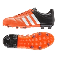 Adidas ACE 15.1 (Leather) Youth FG/AG Soccer Cleats (Solar Orange/White/Black) |  Adidas Soccer Cleats |FREE SHIPPING| Adidas B32817|  SOCCERCORNER.COM