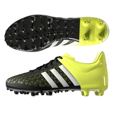 Adidas ACE 15.3 Youth FG/AG Soccer Cleats (Black/White/Solar Yellow) |  Adidas Soccer Cleats |FREE SHIPPING| Adidas B32842 |  SOCCERCORNER.COM