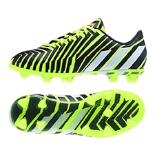 Adidas Predator Instinct Youth Soccer Cleats (Light Flash Yellow/Running White/Dark Shale)