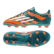 Adidas Messi mirosar 10.1 Youth FG Soccer Cleats (Power Teal/White/Solar Orange) |  Adidas Soccer Cleats |FREE SHIPPING| Adidas M21778 |  SOCCERCORNER.COM