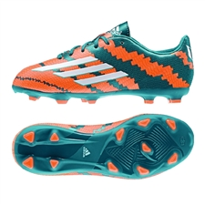 Adidas Messi mirosar 10.3 Youth FG Soccer Cleats (Power Teal/White/Solar Orange)